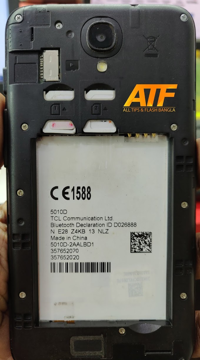 ALCATEL ONE TOUCH 5010D FLASH FILE MT6580 FIRMWARE