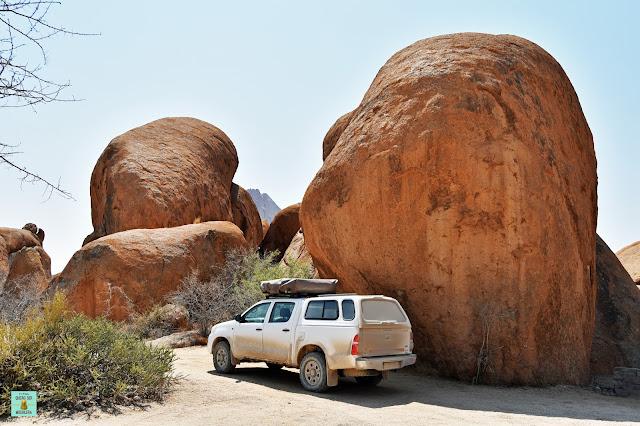 Camping en Spitzkoppe, Namibia