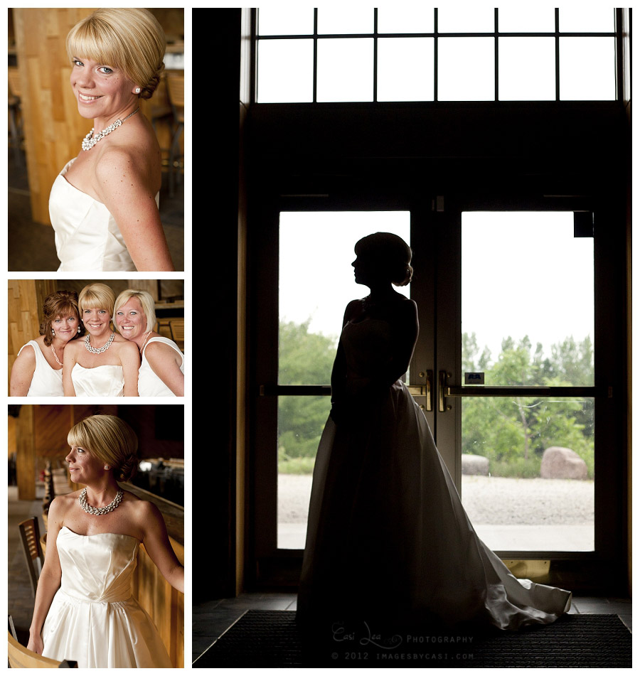 Photos of bride before ceremony by green bay wedding photographer Casi Lea Photography