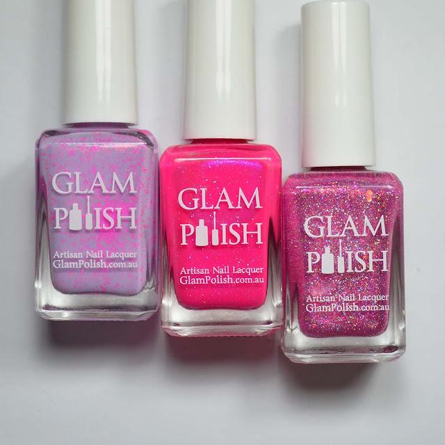 pink nail polish in bottles