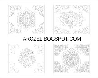Autocad Block - Asian Corner Decorative Pattern