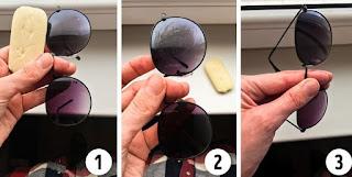 تلميع نظارتك الشمسية بالصابون