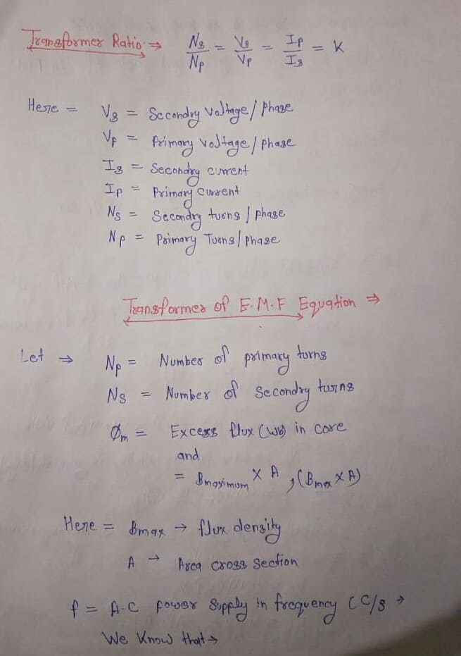 E.M.F Equation of Transformer