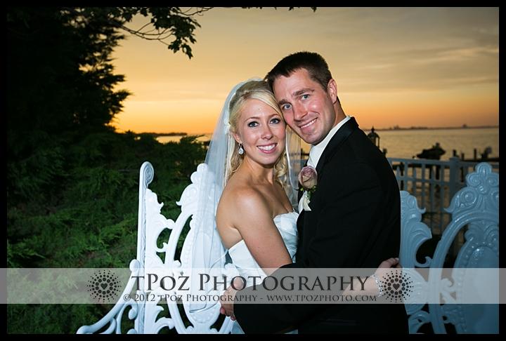 Sunset Bridal Portrait at Kurtz's Beach Wedding Reception