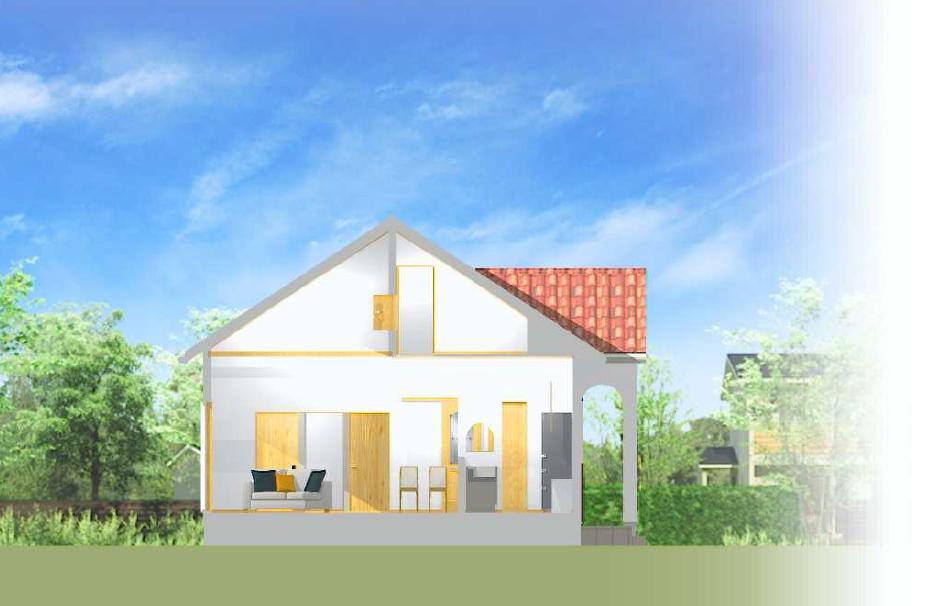 平屋の家 完成予定パース  三重県鈴鹿 津市 みのやの家