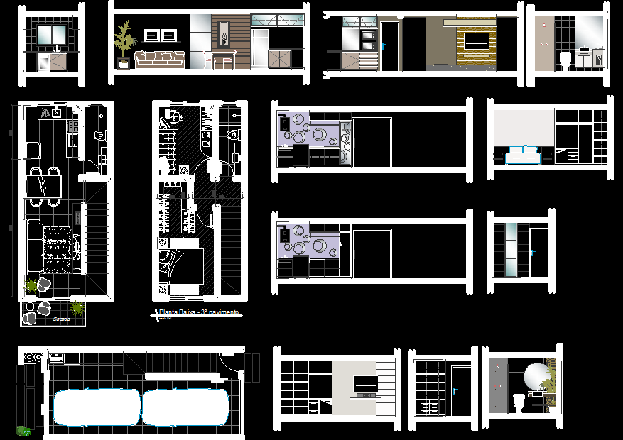 One bedroom house plans for small lots