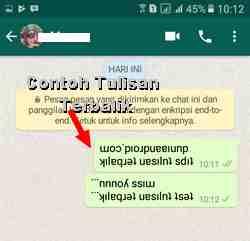 Tips Membuat Tulisan kata Terbalik di WhatsApp