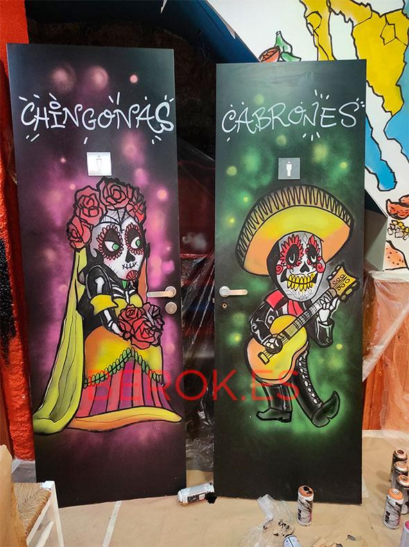 Graffiti Día Muertos