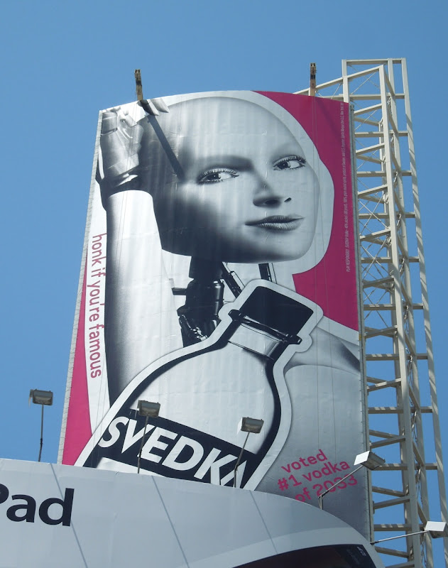 Svedka Vodka Honk if you're famous billboard