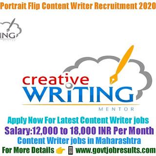 Portrait Flip Content Writer Recruitment 2020-21