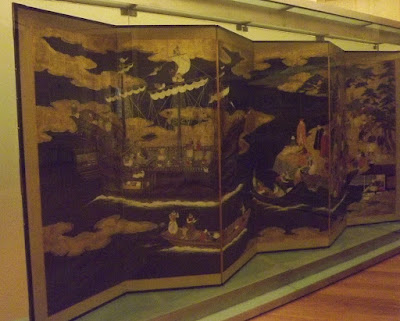 biombo asiatico do Museu de Soares dos Reis