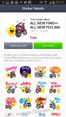 free line stickers in Thailand and Japan