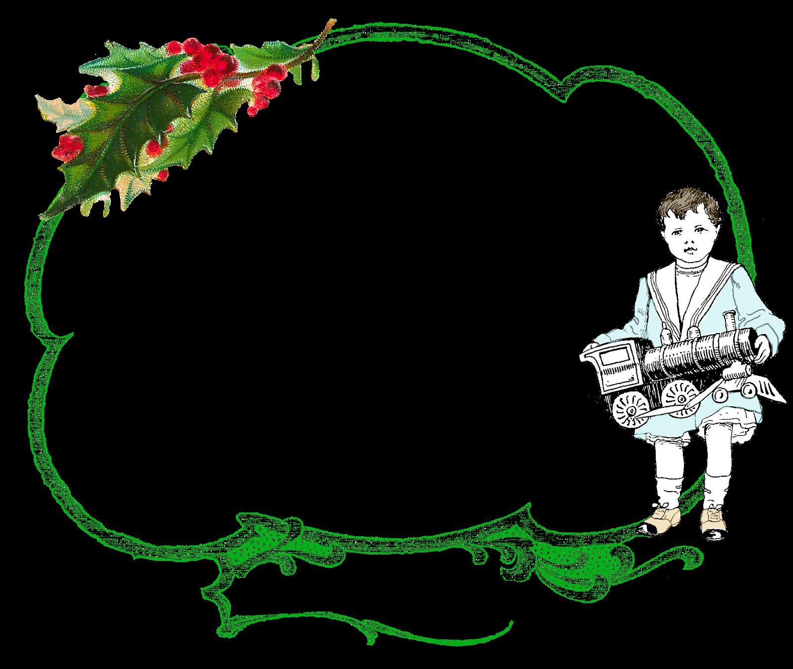 The Graphics Monarch Printable Christmas Border Crafting Design