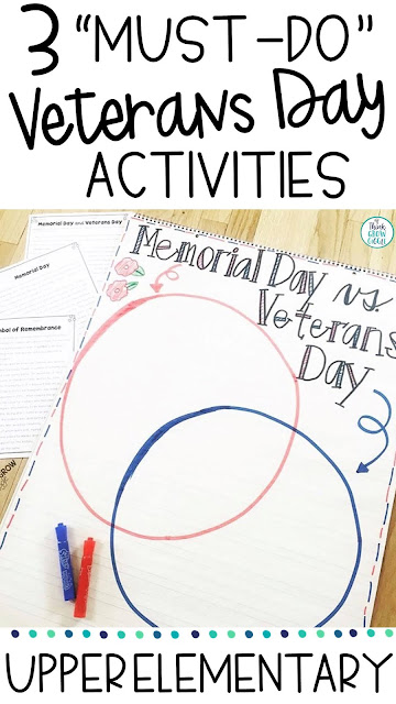 free Veterans Day Activities for Upper Elementary