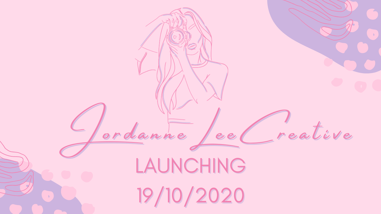 "Graphic with pale pink background and dark pink writing that says ""Jordanneleecreative"""