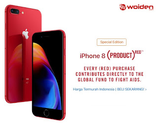 Apple iPhone 8 Red Edition Murah Indonesia
