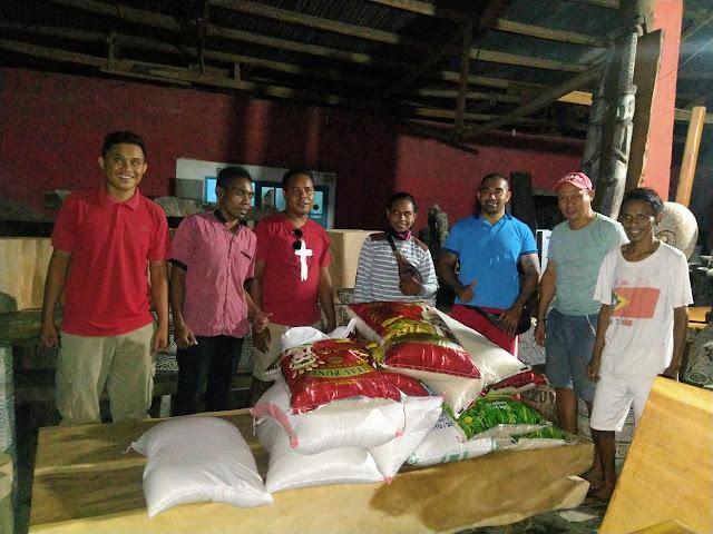 Dokumentasi sebelum pembagian bantuan oleh IKADAR Bali