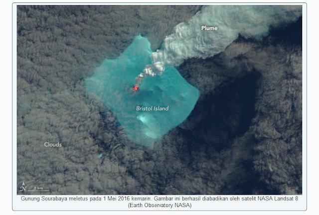 FOTO NASA: Tidak Ada yang Tahu Gunung SOURABAYA Meletus 1 Mei 2016 Kecuali NASA