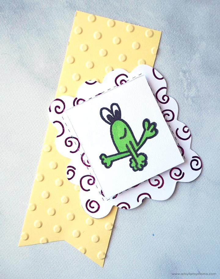 Handmade Frog Hoppy Card