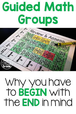 When you plan guided math, it is important to be organized. Organization is the key to having successful math groups! You have to know the end goal in order to know how to get there! In this post, I explain why you have to begin with the end in mind when you are organizing for Guided Math.