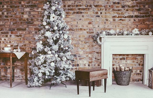 Decoración metalizada en Navidad