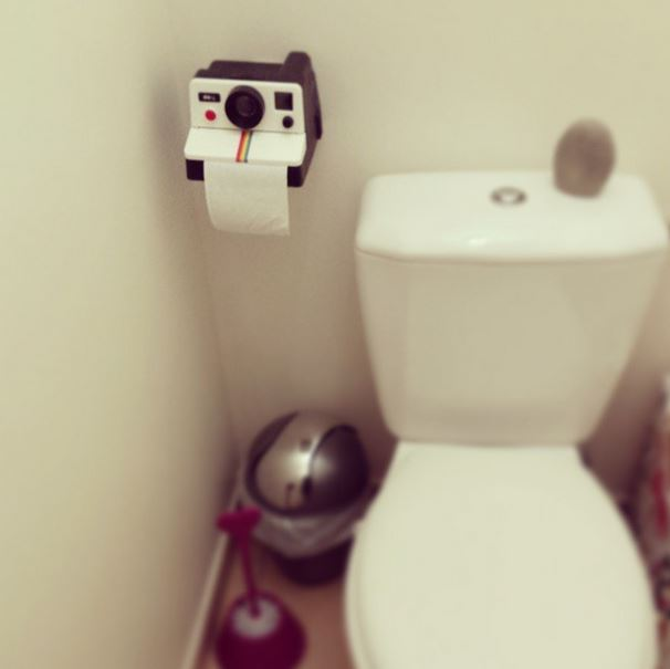 dérouleur papier toilettes polaroid