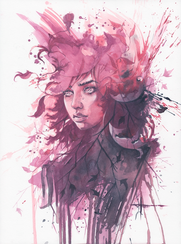 09-To-Rest-in-me-Max-Moser-Paintings-of-Multicolored-Watercolor-Portraits-www-designstack-co