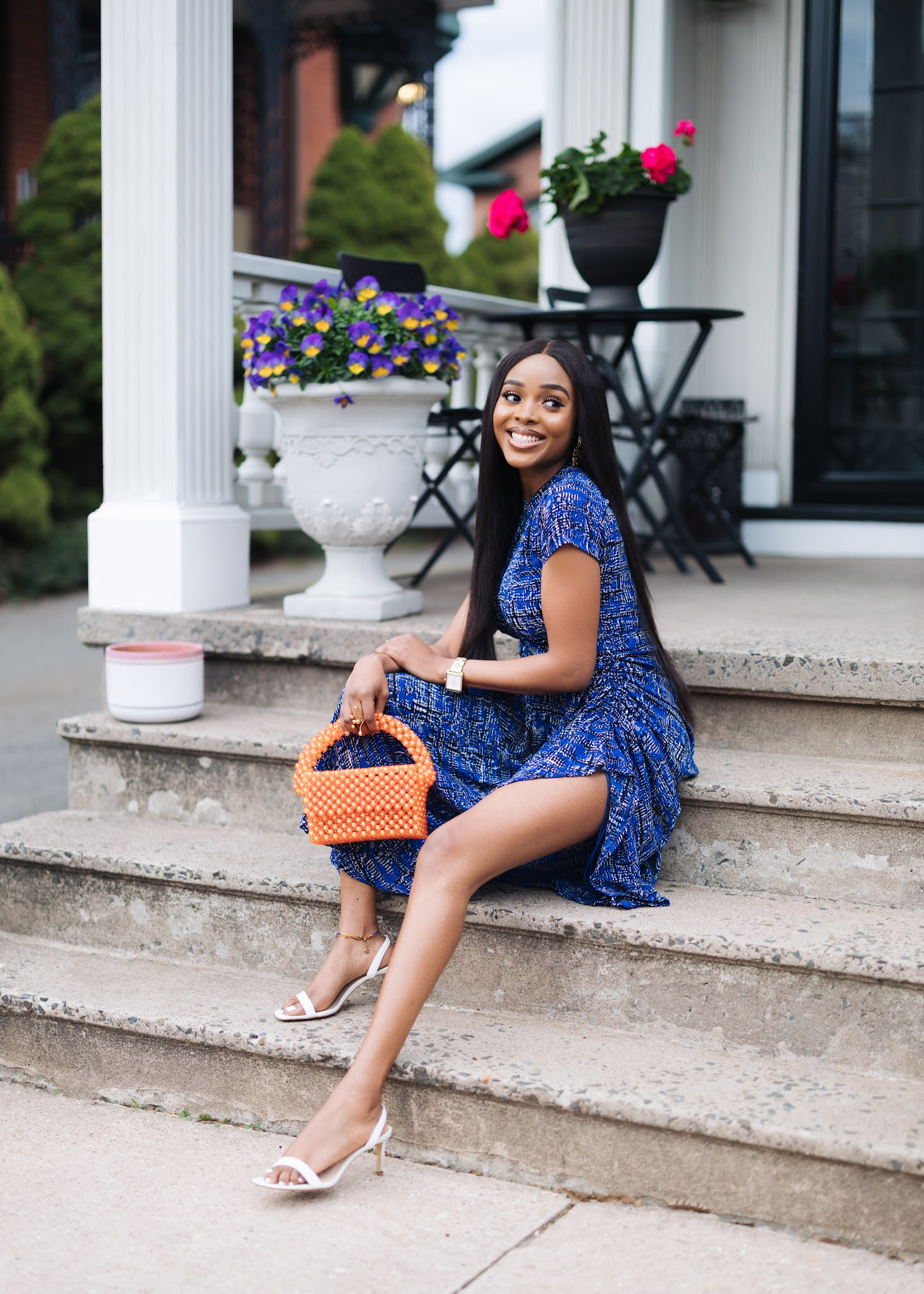 How to style a print dress for date night