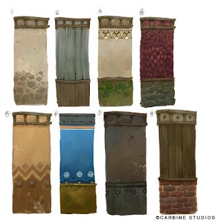 Ilustración de distintos tipos de muros de M. H. Chen.