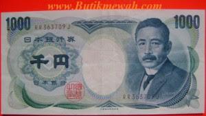 1000 Yen mata uang asing dari Negara Jepang uang kertas kuno dari Jepang tahun seri 1984
