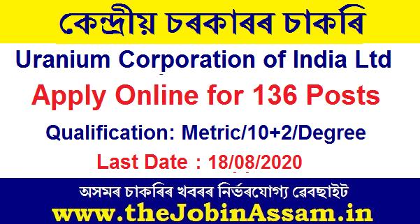 Uranium Corporation of India Ltd Recruitment 2020