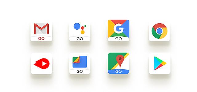 Verschiedene Google App Icons