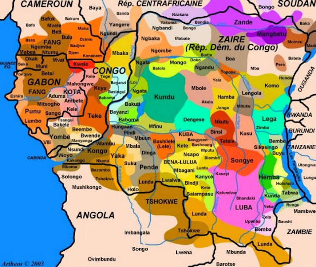 Central Map Province Zambia