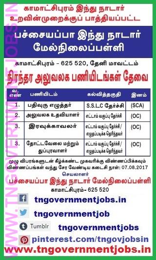 Pachayappa-Hindu-Nadar-Higher-Secondary-School-Kamatchipuram-Theni-non-teaching-posts-recruitment-www-tngovernmentjobs-in