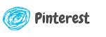 círculo azul com a palavra Pinterest