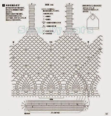 Bolsos tejidos a Crochet con esquema gratis