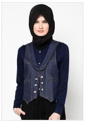 Model Baju Muslim Jeans Modis dan Trendy Untuk Wanita