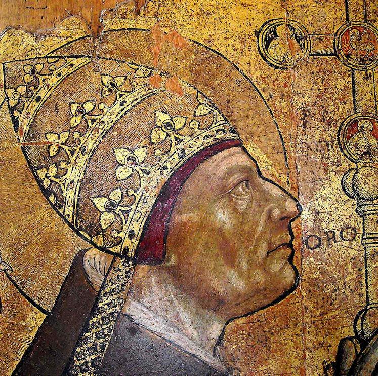 São Gregório Magno, autor napolitano anônimo, Museu do Castel Nuovo