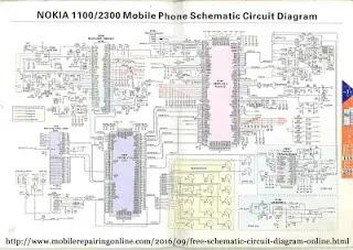 Nokia 1100/2300 mobile phone schematic circuit diagram