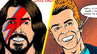 Bowie Dave Grohl cómic