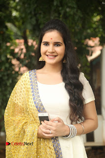 Actress Shivshakti Sachdev Pictures in White Salwar Kameez at VR Chalanachitralu Production No. 1 Movie Opening 0010