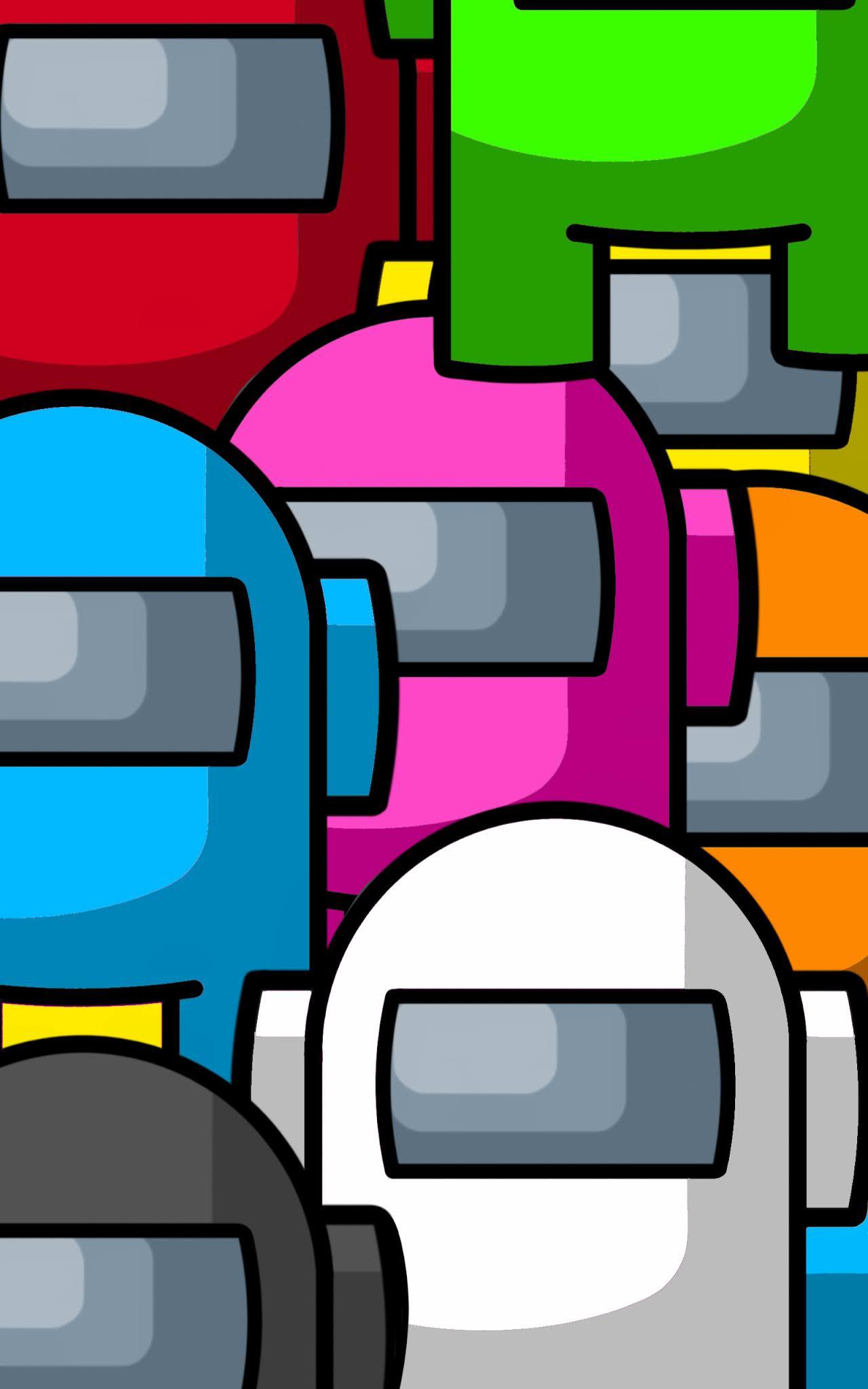 Among us game mobile wallpaper