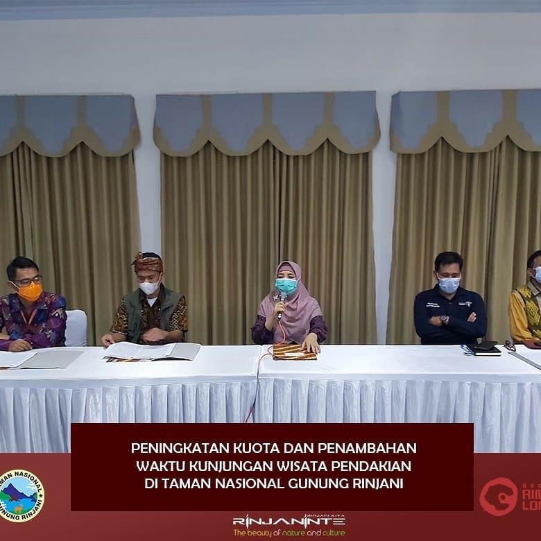 Konferensi pers penambahan kuota dan waktu pendakian Gunung Rinjani - Foto @gunungrinjani_nationalpark