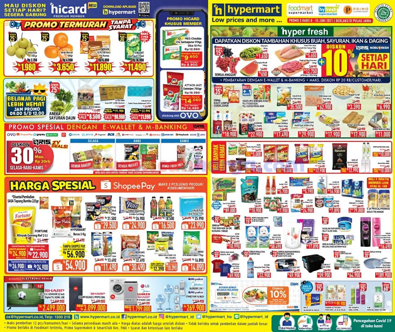 Katalog Promo Hypermart Weekday Terbaru 8 - 10 Juni 2021