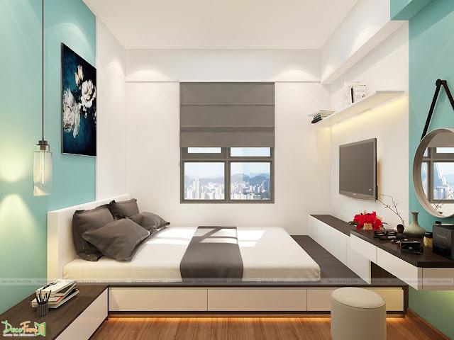 Nội thất phòng Master chung cư 65m2 - 2 phòng ngủ - 2