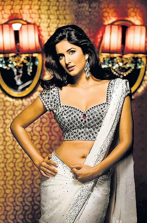 Katrina Kaif navel in low waist saree bollywood actress