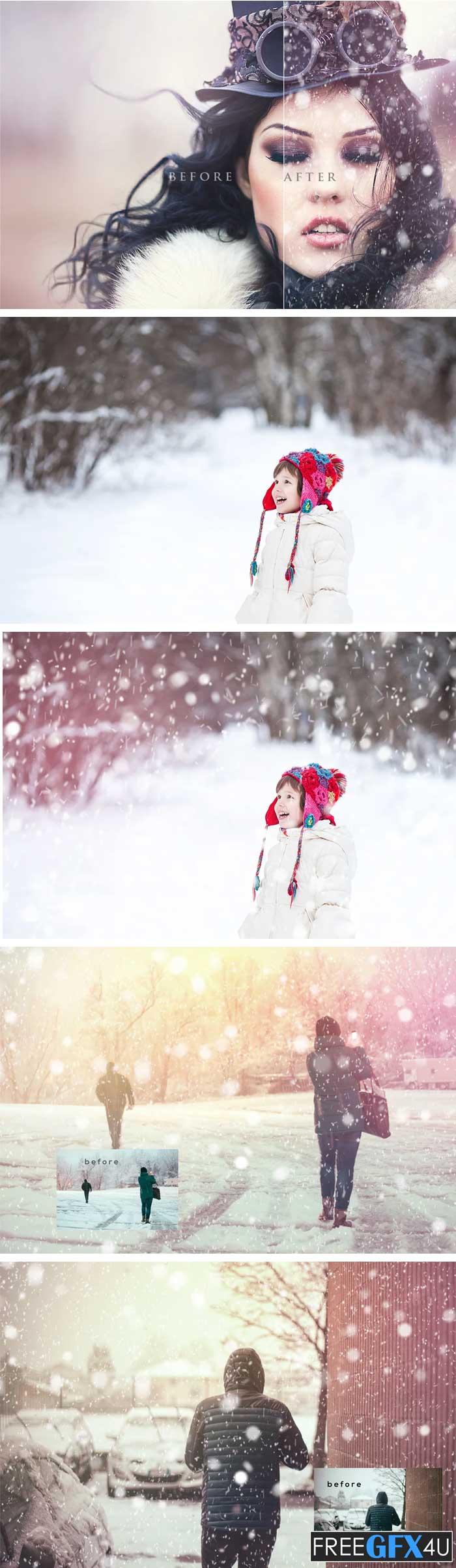Natural Snow Overlays Photoshop
