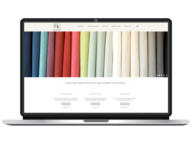 Heritage Fabrics new web design by CC Communications
