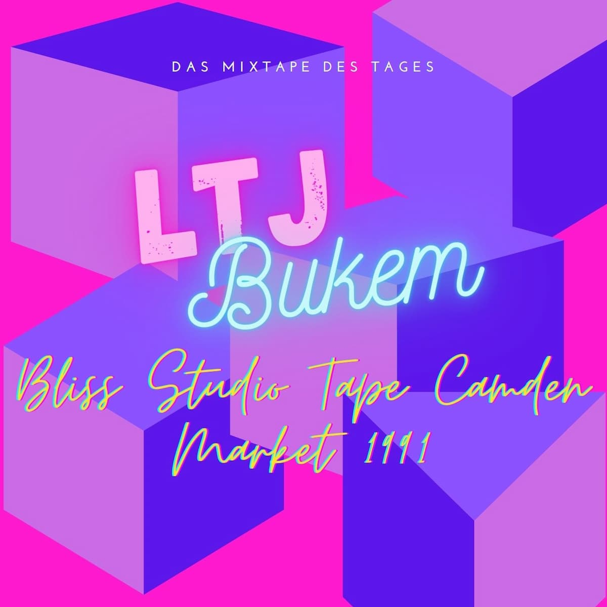 Ltj Bukem Bliss Studio Tape Camden Market 1991   Oldschool Drum and Bass Mixtape
