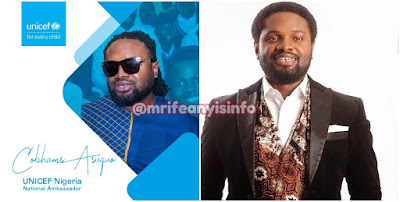 Cobhams Asuquo named National Ambassador for UNICEF NIGERIA